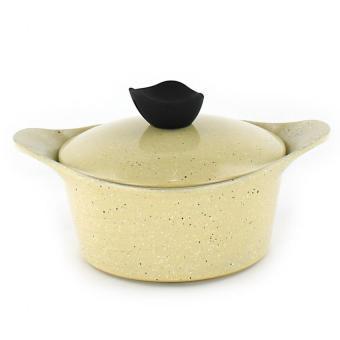 Honhey 21pcs Cast Aluminum Cookware Set with Ecolon Coating (Ivory) - 2