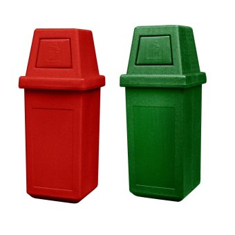 Hooded Bin Large (Red/Green)