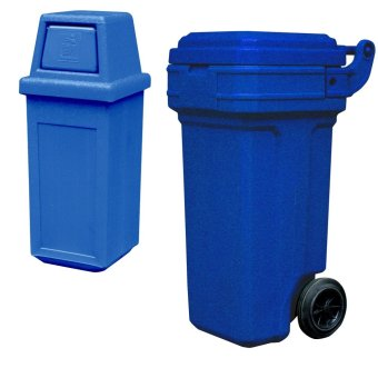 Hooded Bin Small (Blue) and Roller King Small (Blue)
