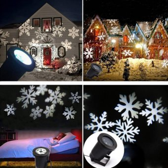 Hot Outdoor Moving LED Snowflake Laser Light Projector Lamp For Party,Festival And Garden Decoration - intl