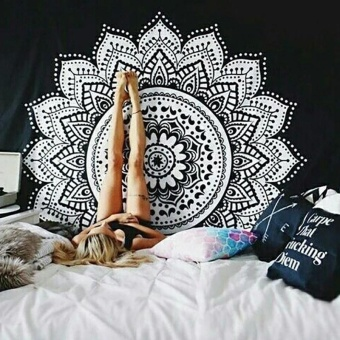 Hot Tapestry Bohemia Boho Mandala Tapestry Wall Hanging For WallDecoration Hippie Tapestry Beach Towel Yoga Mat (type:1) - intl