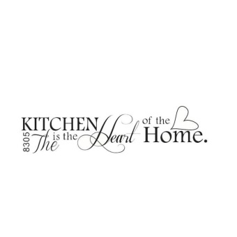 HOT!Removable Kitchen Heart Home Decal Wall Stickers Vinyl BathroomArt Decor - intl