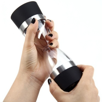 Hourglass shape Dual salt pepper Mill Spice Grinder - intl