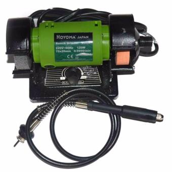 Hoyoma Japan Bench Grinder Heavy Duty 220V BG039 (Green)