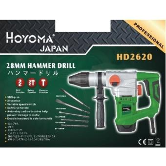 Hoyoma Japan Rotary Hammer Drill 1010W HD2620 (Green)