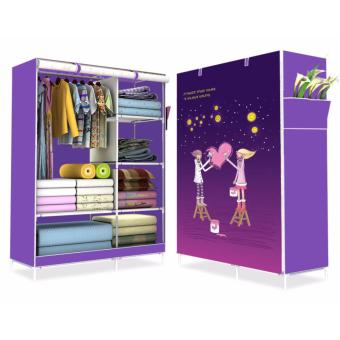 HS-6651 High Quality Cute 3D Design Wardrobe (COUPLE PURPLE)