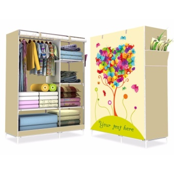 HS-6651 High Quality Cute 3D Design Wardrobe (Your Text Here LemonYellow)