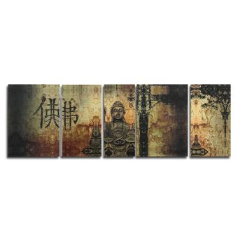 Huge Buddha Abstract Canvas Art Oil Painting Modern Home Wall Decor Set No Frame - 5