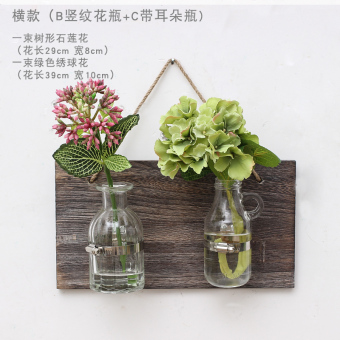 Hydroponic vase wall transparent glass hanging bottle wall hangers