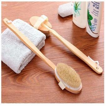 HYX HOT SALE!!!Back Scrubber Long Wooden Handle Bristle Shower Bath Body Brush Dry Skin Brush - intl - 2