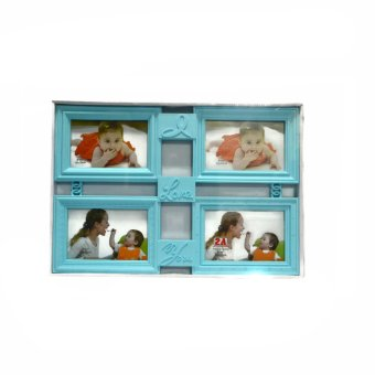 I Love You Collage Picture Frame (Blue)