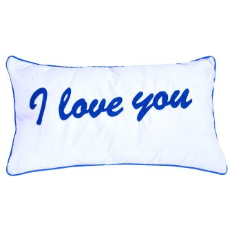 I Love You Pillow (White) Price Philippines