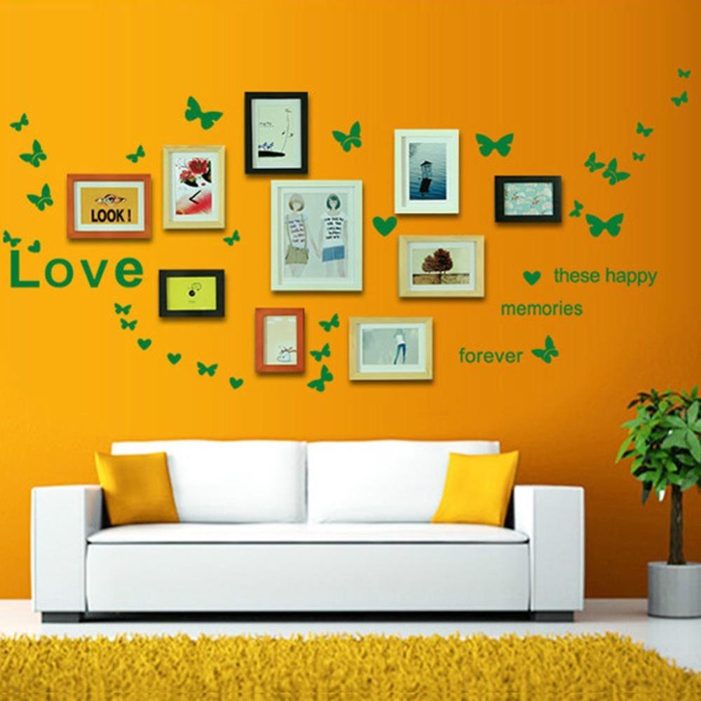 iBelieve 120 65cm DIY For Photo Frame Home Decor Creative Love Decorative Butterflies .
