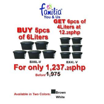 iBox by Familia Storage Solution Buy 5 Get 6 for Only Php12.25 Price Philippines