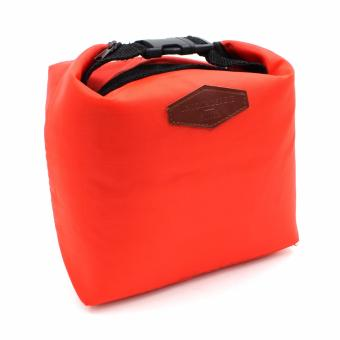 Iconic Thermal Insulated Cooler Waterproof Lunch Tote StoragePicnic Pouch Bag (red)