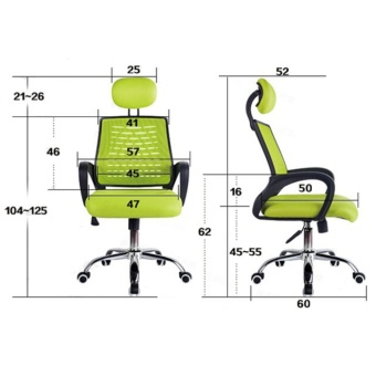 ihome 948 Black Executive Mesh Office Chair - 5