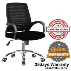 Ihome AB008 Mid Back Office Chair (Black)