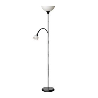 Ikea 2-in-1 Not Uplighter/Reading Lamp (Black)