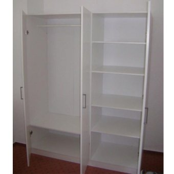 Ikea Dombas 3 Door Wardrobe (White)