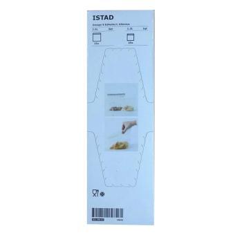 Ikea ISTAD plastic bag (white/gray) - 2