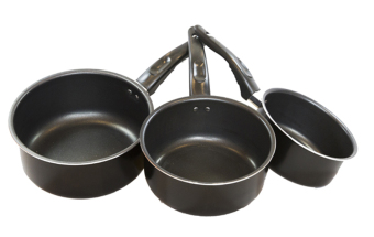 Ikea Kavalkad Saucepan Set of 3 (Black) - picture 2