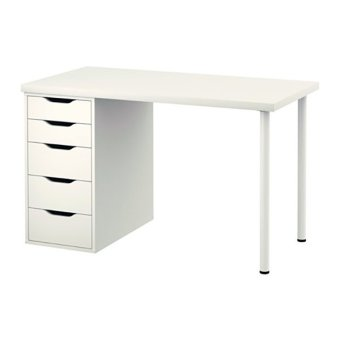 Ikea Linnmon Alex Desk (White)
