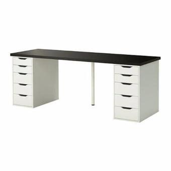 Ikea Linnmon Alex Double (Black Top + Alex White)