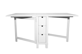 Ikea Norden Extendable Gateleg Table (White) - 5