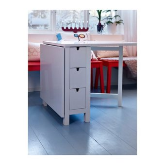 Ikea Norden Extendable Gateleg Table (White) - 3