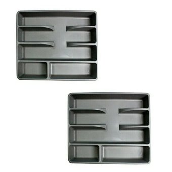 Ikea Smacker Cutlery Tray (Gray), Set of 2