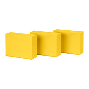 Ikea Stackable Shoe Cabinet Set of 3 (Yellow)