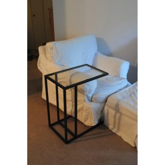 Ikea Vittsjo L-Shaped Side Table (Black)