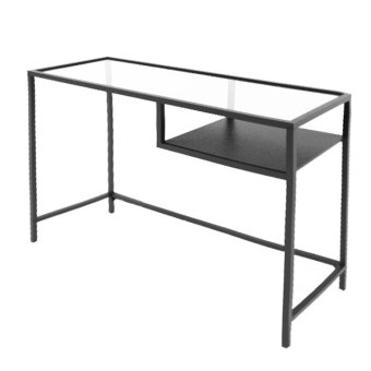Ikea Vittsjo laptop Stand (Black-Brown Glass)