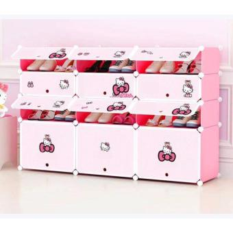 Tupper Shoerack (pink) 9+3 DIY shoerack with cabinet Price Philippines