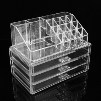 Harga Large Size Acrylic Cosmetic Organizer Drawer Makeup Case Storage Holder Box
