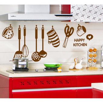Harga Happy Kitchen with nice hanging kitchen set Wall Decal