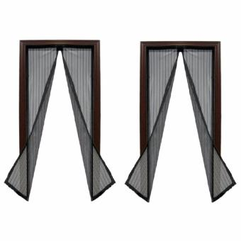 Magic Mesh Instant Screen Door (Black), Set of 2 Price Philippines