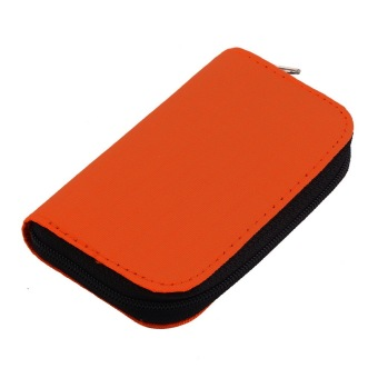 Harga OH SD SDHC MMC CF Micro SD Memory Card Storage Carrying Pouch Case Holder Wallet (Orange)