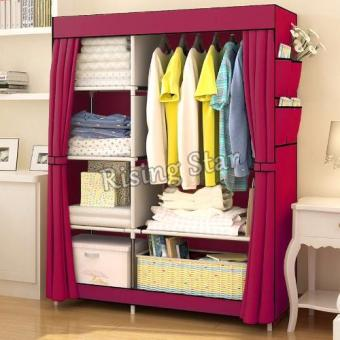 Harga Rising Star Fashion Multifunction Cloth Wardrobe Storage Cabinets RS-77105