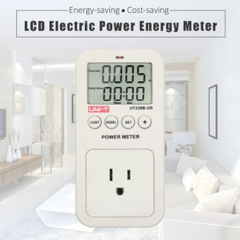 Harga UNI-T Series LCD Plug-in Energy Consumption Meter Voltage Current Cost Frequency Power Factor Monitor CO2 Emission Detection US Plug - intl