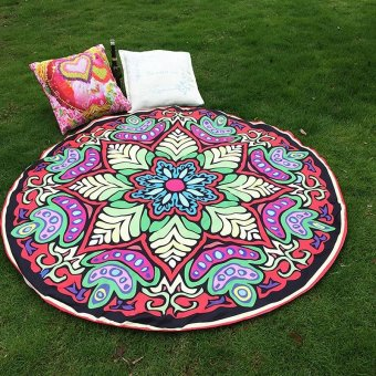 Harga AC Red Hippie Round Mandala Tapestry Indian Wall Hanging Beach Throw Towel Yoga Mat NEW - intl