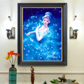 Harga Rising Star Cinderella DIY 5D Diamond Painting Cross Stitch Full Drill Rhinestone Painting Decor J-21