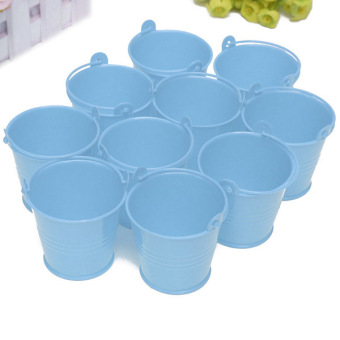 10x Mini Cute Bucket Colored Wedding Party Favour Keg Box Gift Pails Candy Lolly Blue Price Philippines