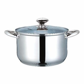Masflex 24cm Stainless Steel Casserole with Lid (Silver) Price Philippines