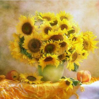 Harga Rising Star Sunflower DIY 5D Diamond Painting Cross Stitch Full Drill Rhinestone Painting Decor #8614