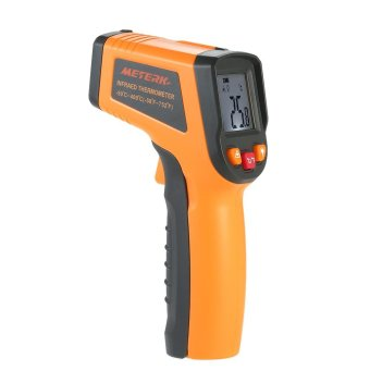 Harga Meterk -50~400�C 12:1 Portable LCD Non-contact IR Infrared Thermometer Temperature Measurement Pyrometer with Backlight - intl