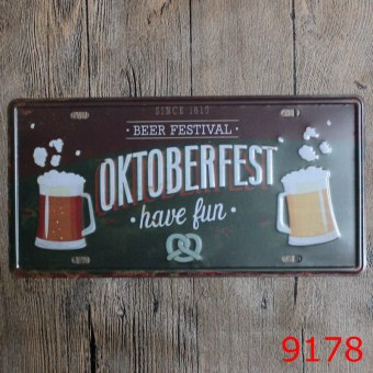 OKTOBERFEST Vintage Metal Tin Sign Plate Plaque Wall Art Poster Bar Pub Home Wall Decor 30X15cm Price Philippines