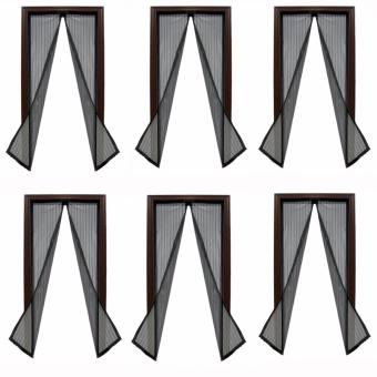 Magic Mesh Instant Screen Door (Black) Set Of 6 Price Philippines