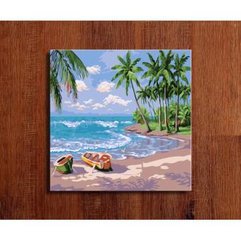 "Harga ""The Paradise"" DIY (Do-It-Yourself) Oil Painting By Numbers On Canvas For Home Wall Decor, New Hobby And Gift"