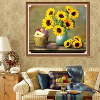 Harga Rising Star Sunflower DIY 5D Diamond Painting Cross Stitch Full Drill Rhinestone Painting Decor #9560